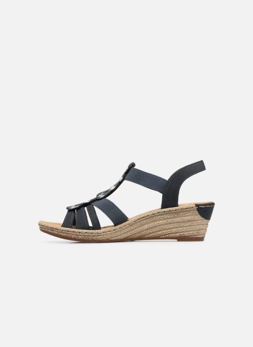 Sandales et nu-pieds Rieker Julissa Bleu vue face