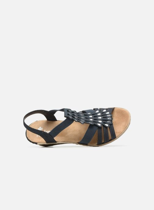 Sandalen Rieker Julissa 62436 Blauw links