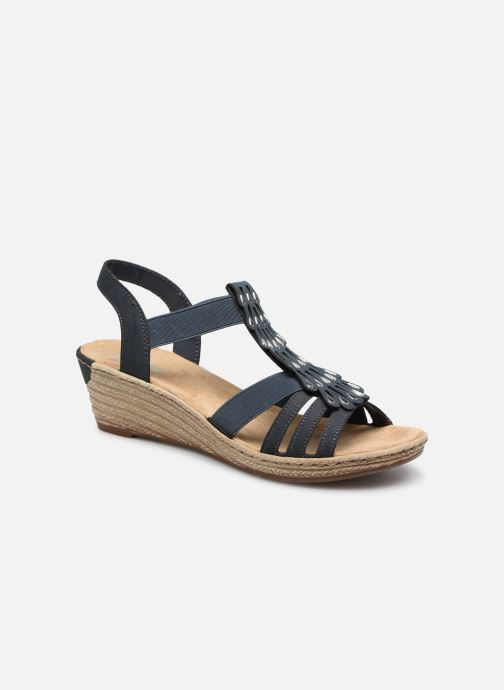 Sandaler Rieker Julissa Blå detaljeret billede af skoene