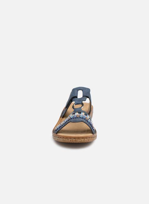 Mules et sabots Rieker Lana 628M6 Bleu vue portées chaussures