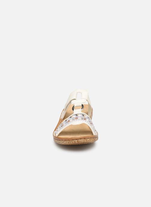 Mules et sabots Rieker Lana 628M6 Blanc vue portées chaussures