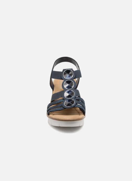Sandales et nu-pieds Rieker Mariela 65515 Bleu vue portées chaussures