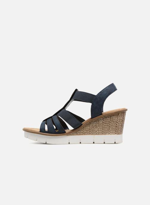 Sandales et nu-pieds Rieker Mariela 65515 Bleu vue face