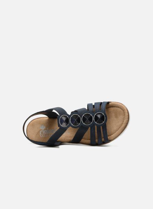 Sandales et nu-pieds Rieker Mariela 65515 Bleu vue gauche