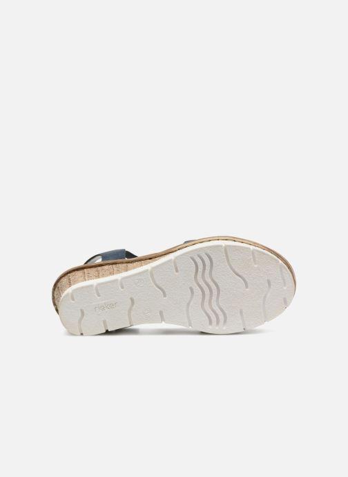 Sandales et nu-pieds Rieker Mariela 65515 Bleu vue haut
