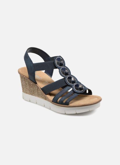 Sandaler Rieker Mariela 65515 Blå detaljeret billede af skoene