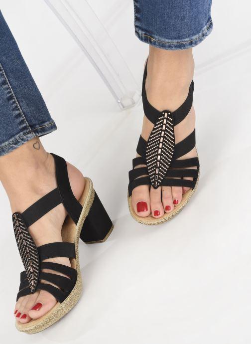 Sandales et nu-pieds Rieker Nayeli 66526 Noir vue bas / vue portée sac