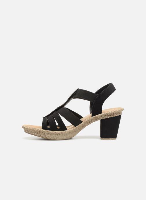 Sandales et nu-pieds Rieker Nayeli Noir vue face