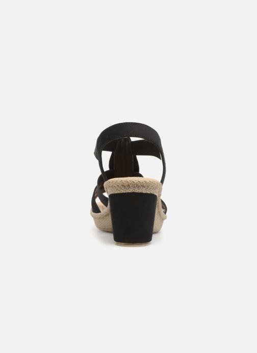 Sandales et nu-pieds Rieker Nayeli Noir vue droite