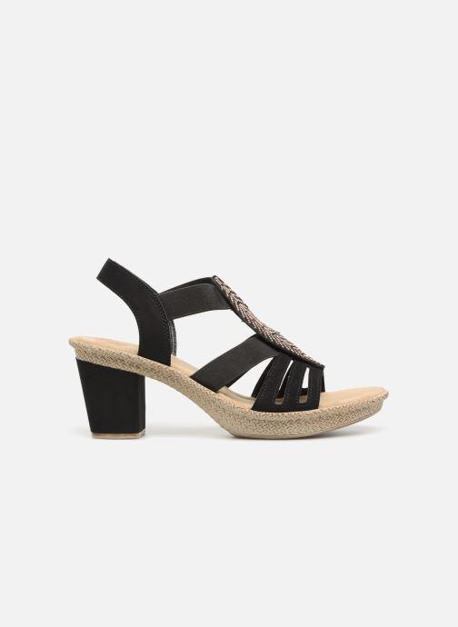 Sandales et nu-pieds Rieker Nayeli Noir vue derrière