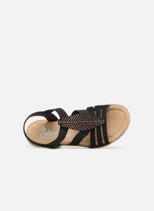 Sandales et nu-pieds Rieker Nayeli Noir vue gauche