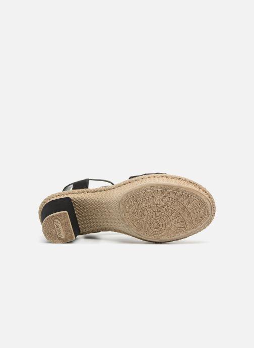 Sandales et nu-pieds Rieker Nayeli Noir vue haut