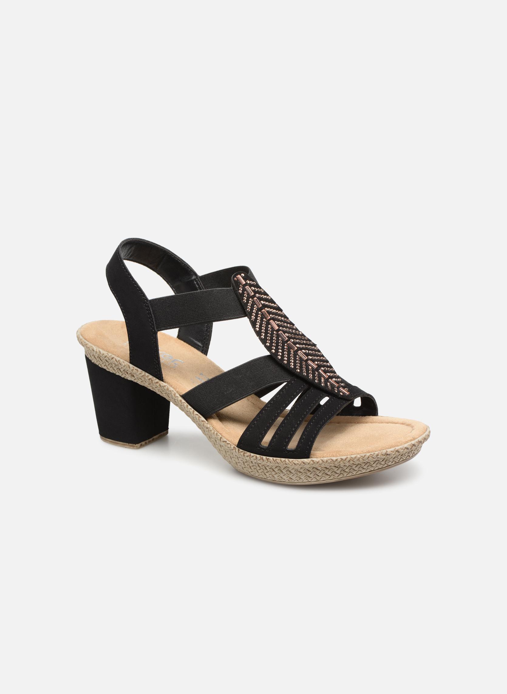 Sandaler Rieker Nayeli 66526 Sort detaljeret billede af skoene