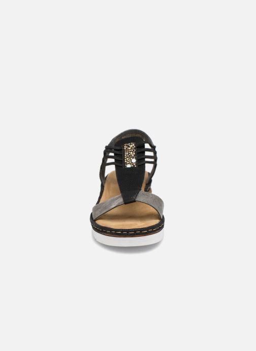 Sandales et nu-pieds Rieker Olivia 679L1 Noir vue portées chaussures