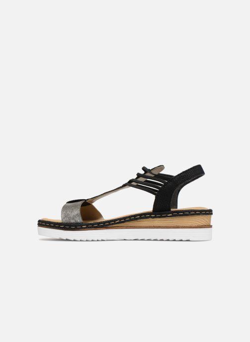 Sandales et nu-pieds Rieker Olivia 679L1 Noir vue face