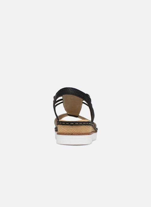Sandales et nu-pieds Rieker Olivia 679L1 Noir vue droite