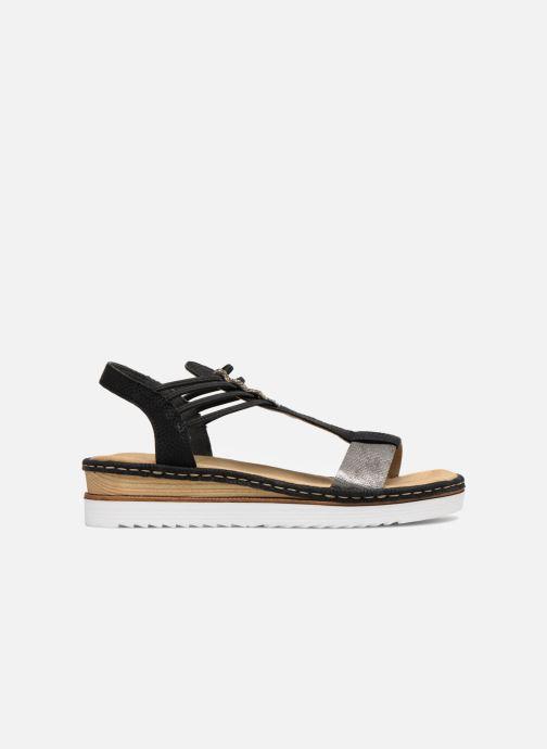 Sandales et nu-pieds Rieker Olivia 679L1 Noir vue derrière