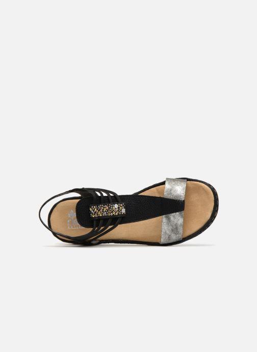 Sandales et nu-pieds Rieker Olivia 679L1 Noir vue gauche