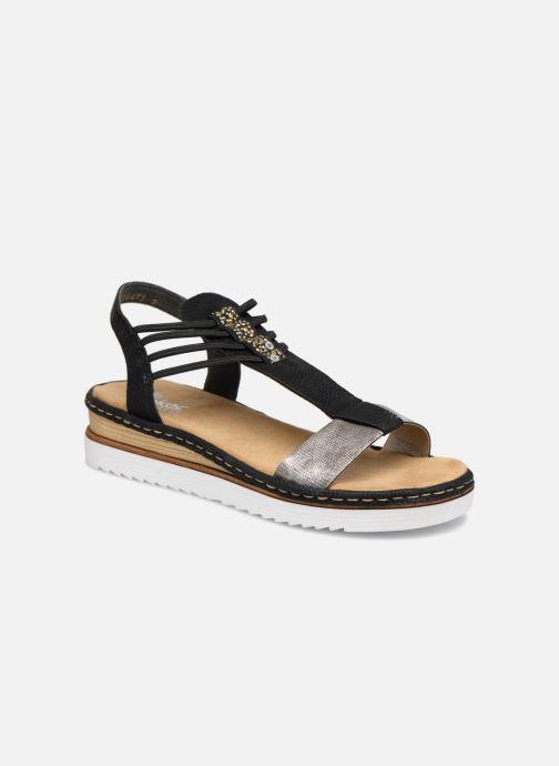 Sandales et nu-pieds Rieker Olivia 679L1 Noir vue détail/paire