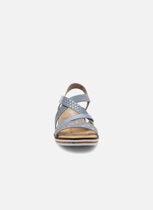 Sandali e scarpe aperte Rieker Sienna V3663 Azzurro modello indossato