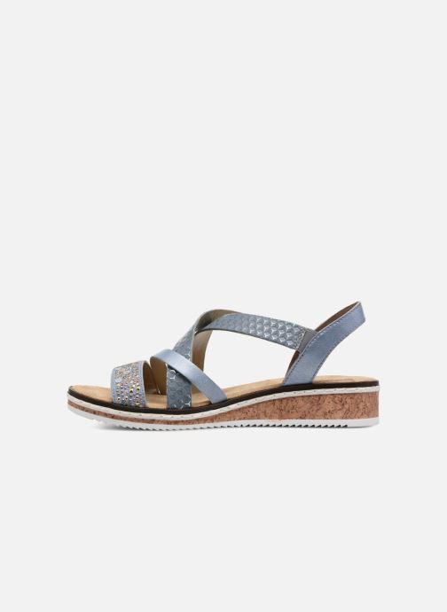 Sandali e scarpe aperte Rieker Sienna V3663 Azzurro immagine frontale