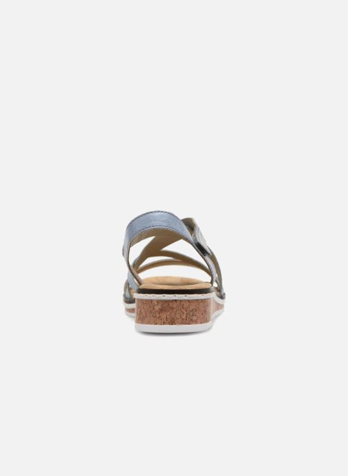 Sandals Rieker Sienna V3663 Blue view from the right