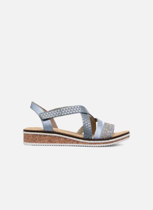 Sandali e scarpe aperte Rieker Sienna V3663 Azzurro immagine posteriore