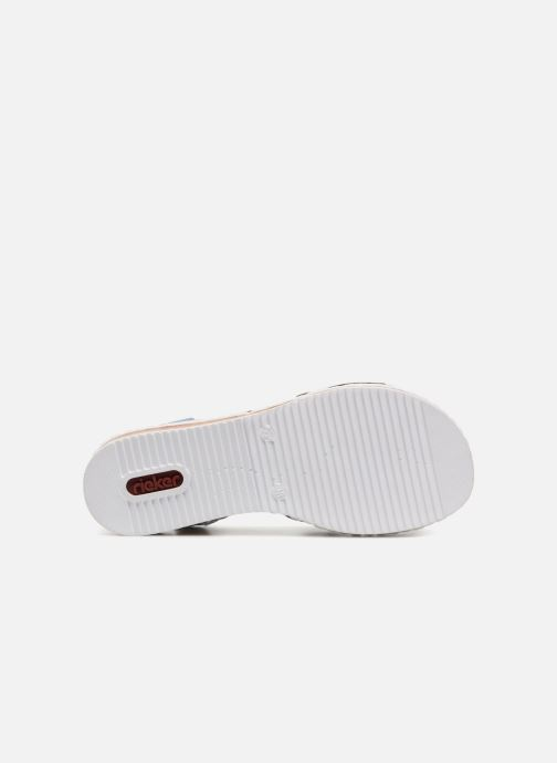 Sandales et nu-pieds Rieker Sienna V3663 Bleu vue haut