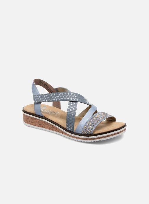 Sandales et nu-pieds Rieker Sienna V3663 Bleu vue détail/paire