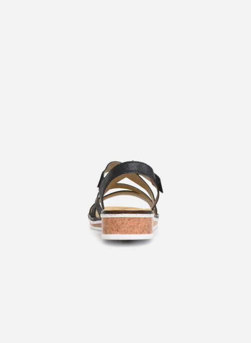 Sandals Rieker Sienna V3663 Black view from the right