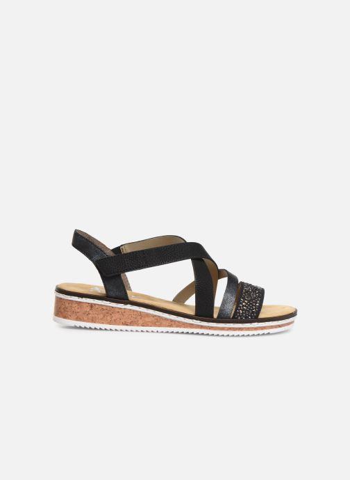 Sandales et nu-pieds Rieker Sienna V3663 Noir vue derrière