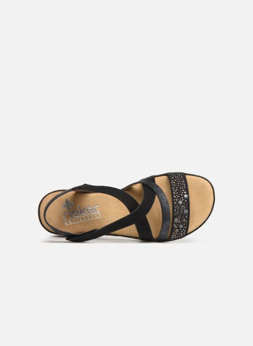 Sandals Rieker Sienna V3663 Black view from the left