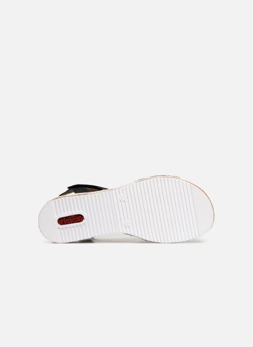 Sandales et nu-pieds Rieker Sienna V3663 Noir vue haut