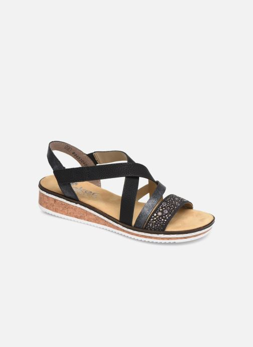 Sandales et nu-pieds Rieker Sienna V3663 Noir vue détail/paire
