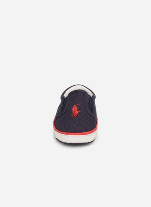Chaussons Polo Ralph Lauren Bal Harbour II Layette Bleu vue portées chaussures