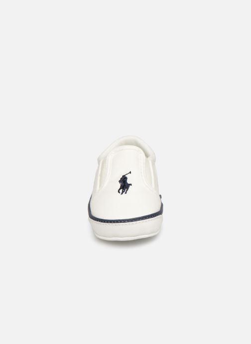 Chaussons Polo Ralph Lauren Bal Harbour II Layette Blanc vue portées chaussures