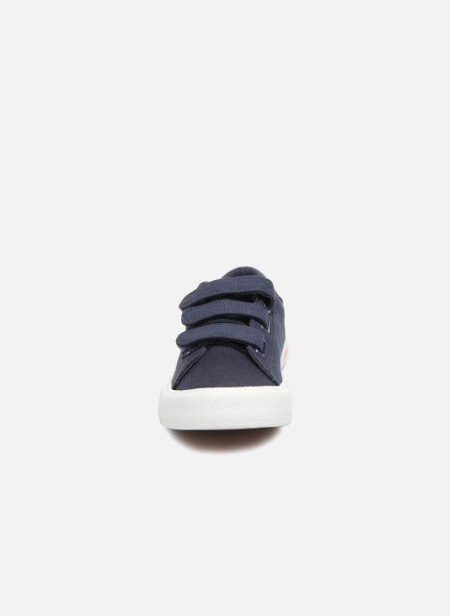 Sneakers Polo Ralph Lauren Easten EZ Azzurro modello indossato
