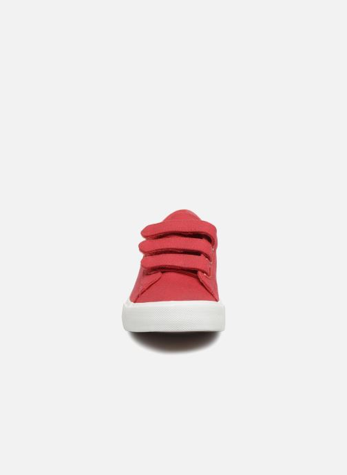 Baskets Polo Ralph Lauren Easten EZ Rouge vue portées chaussures