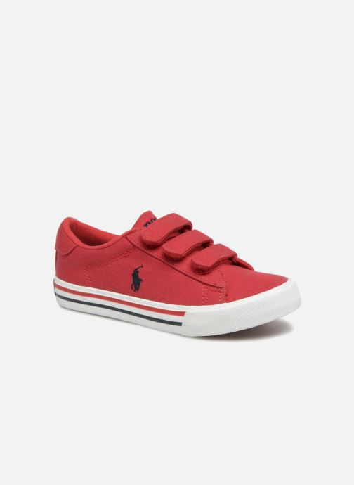 Baskets Polo Ralph Lauren Easten EZ Rouge vue détail/paire