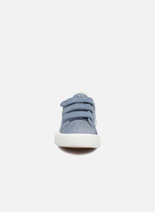 Baskets Polo Ralph Lauren Easten EZ Bleu vue portées chaussures