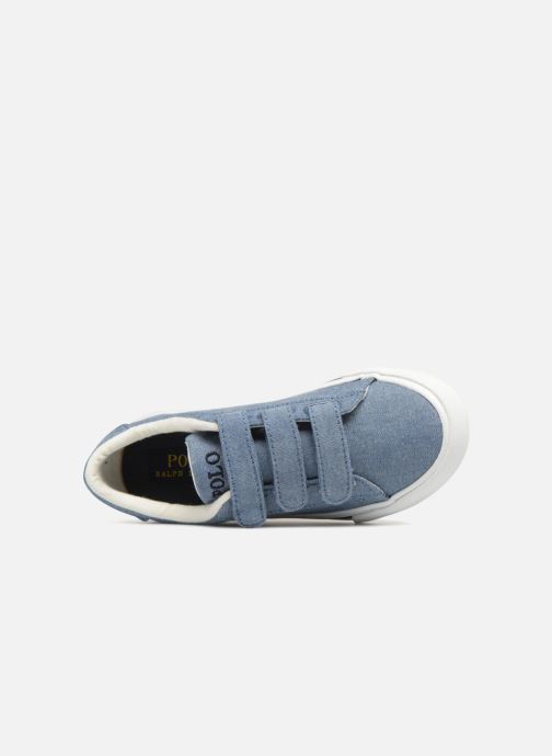 Baskets Polo Ralph Lauren Easten EZ Bleu vue gauche