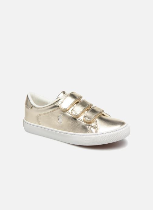 Baskets Polo Ralph Lauren Easten EZ Or et bronze vue détail/paire