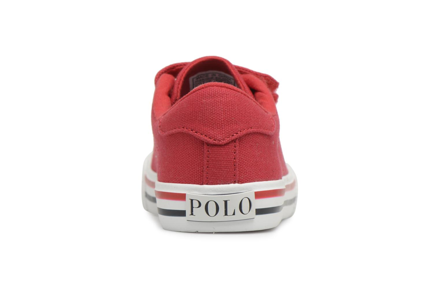 Baskets Polo Ralph Lauren Easten EZ Rouge vue droite