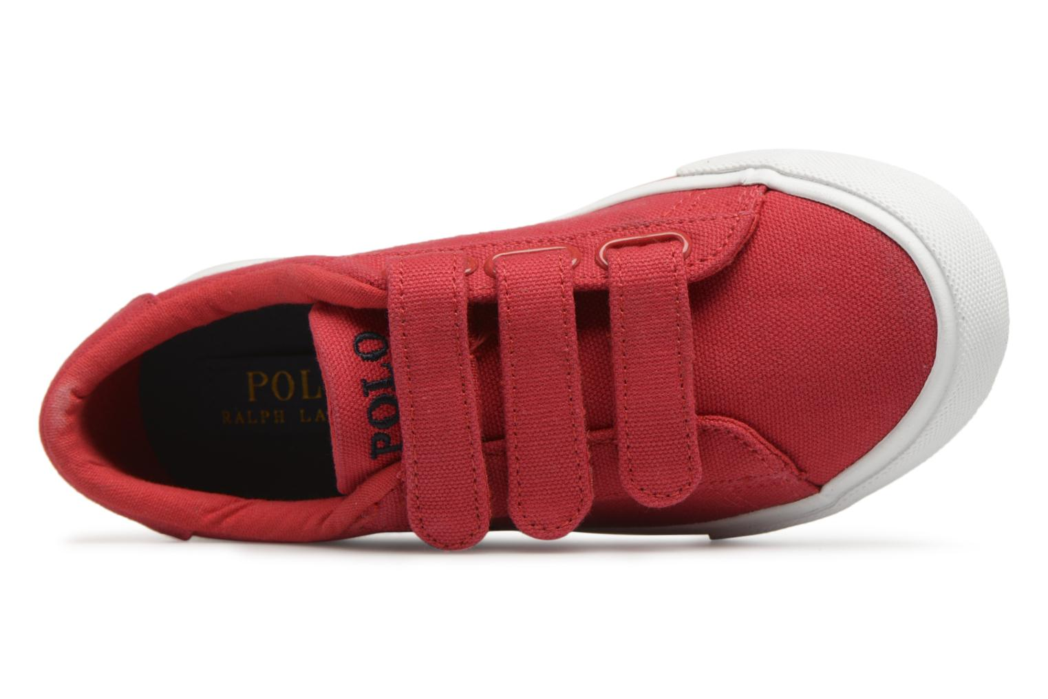 Baskets Polo Ralph Lauren Easten EZ Rouge vue gauche