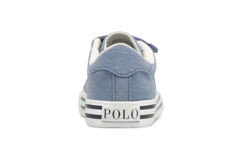 Baskets Polo Ralph Lauren Easten EZ Bleu vue droite