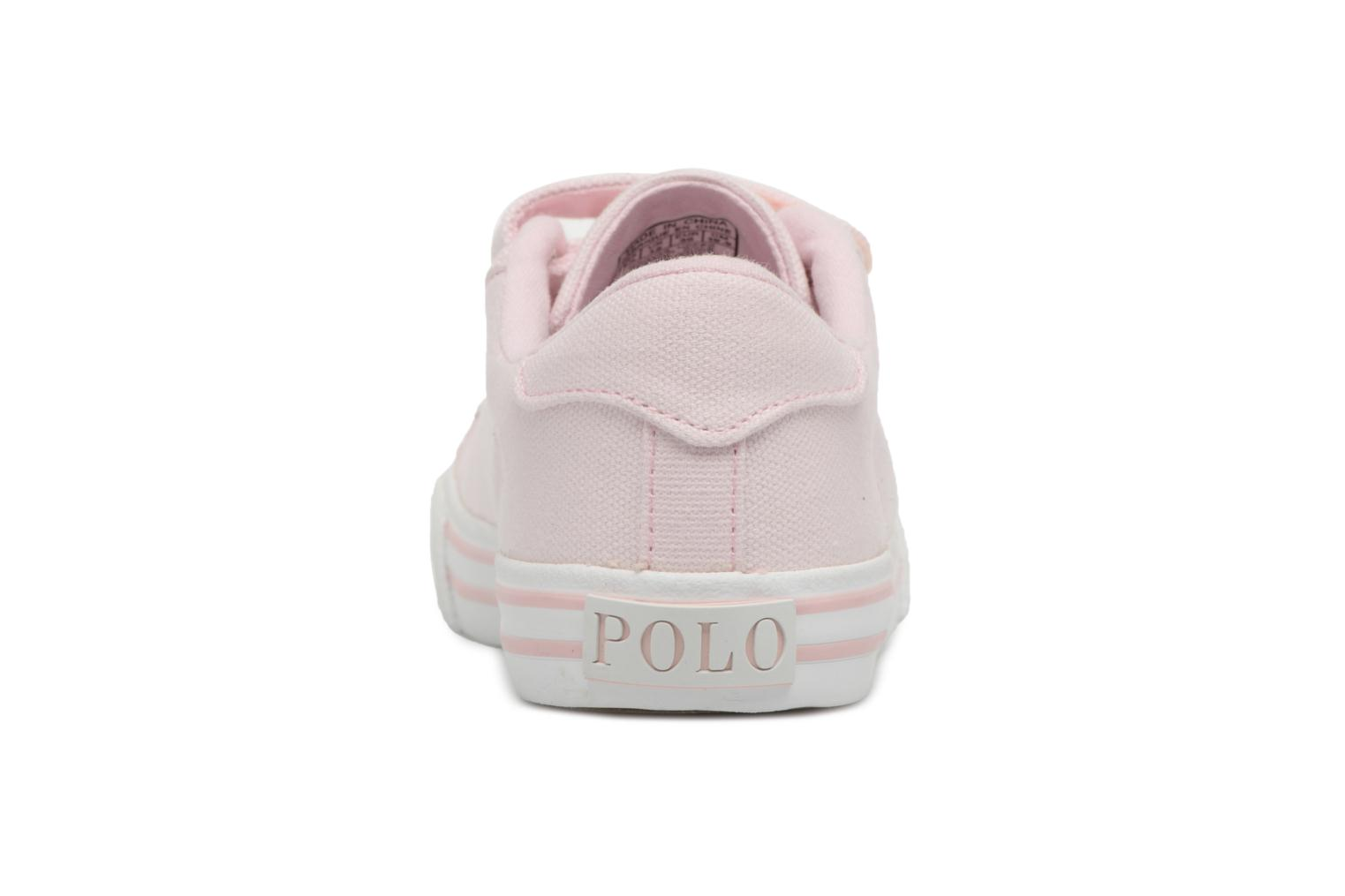 Baskets Polo Ralph Lauren Easten EZ Rose vue droite