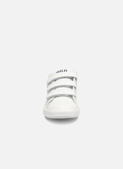 Baskets Polo Ralph Lauren Quilton EZ Blanc vue portées chaussures