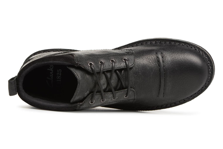 Boots en enkellaarsjes Clarks Lawes Top Zwart links
