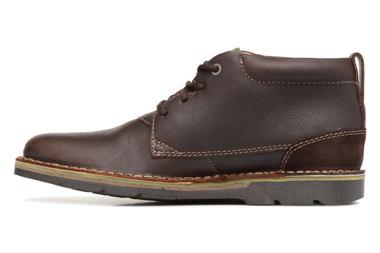 Bottines et boots Clarks Edgewick Mid Marron vue face