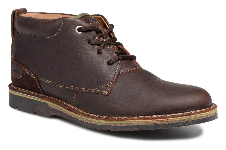 Bottines et boots Clarks Edgewick Mid Marron vue détail/paire